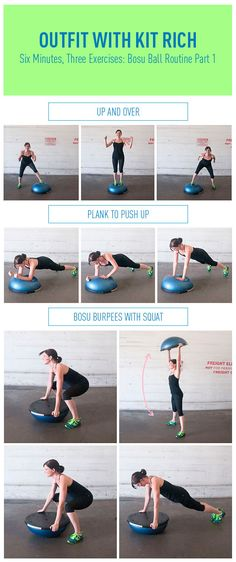 I love my Bosu Ball!  What a great little set of exercises: Six Minutes, Three Exercises: Bosu Ball Routine Part 1