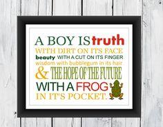 Little Boy Room Decor Nursery Print 11x14 A Boy by TheEducatedOwl, $14.00