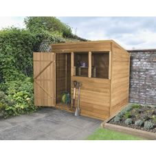 6ft x 4ft pressure treated overlap apex wooden garden shed windowless garden shed 4x6 pinterest gardens sheds and garden sheds - Garden Sheds Quick Delivery