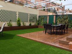 backyard designs – Gardening Ideas, Tips & Techniques Rooftop Terrace Design, Rooftop Garden, Small Backyard Landscaping, Modern Landscaping, Vertical Garden Wall, Backyard Makeover, Outdoor Living, Outdoor Decor, Exterior House Colors