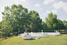 This Backyard wedding photo makes me what to get married in my good friends mom's field.
