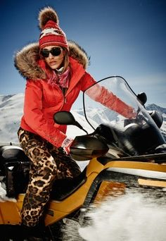 snowmobile in Bogner ... now that's hot.