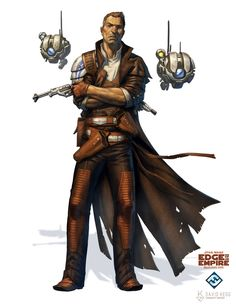 ArtStation - Star Wars: Edge of the Empire - Human Marshal, David Kegg Ffg Star Wars, Star Wars Rpg, Star Trek, Star Wars Characters Pictures, Sci Fi Characters, Character Portraits, Character Art, Character Ideas, Edge Of The Empire