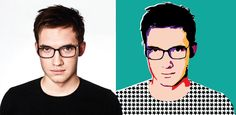 TUTORIAL: Learn how to create a pop art inspired vector self portrait.