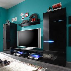Tv wall unit with led lights entertainment centers for inch furniture rugs modern entertainment center wall . tv wall unit with led lights Entertainment Center Wall Unit, Entertainment Center Makeover, Contemporary Tv Stands, Modern Contemporary, Modern Wall Units, Cool Tv Stands, Tv Furniture, Tv Decor, Modern Rugs