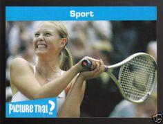 MARIA SHARAPOVA Tennis Star 2005 Picture That? Card