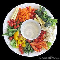 Beautifully presented veggie plate