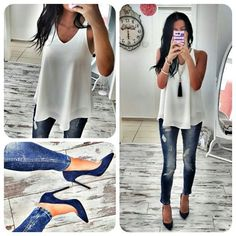 Super cute outfit need to get some true heels like this. Only have wedges and boots!