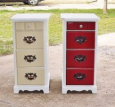 An old desk taken apart made these two side drawers. Great idea!