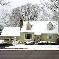 Picture-Perfect New House: Before from this old house curb appeal finalists 2012.  Cape.