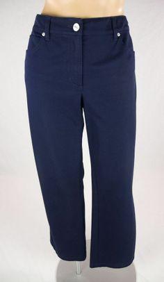 ESCADA Blue Cotton Stretch Denim Jean Pant Sz 38
