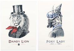Dandy Lion and Foxy Lady
