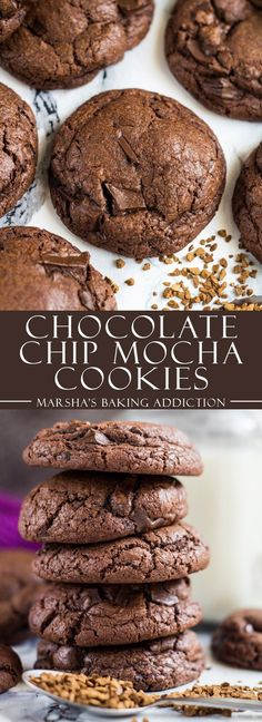 Chocolate Chip Mocha Cookies | http://marshasbakingaddiction.com /marshasbakeblog/