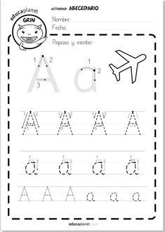 aprender a leer abecedario: escribir a