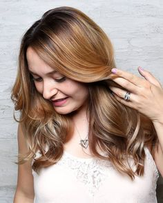 So much beautiful. Perfect touch of warmth and sunkissed highlights. Hair @bonnieenglish. So pretty Bonnie.