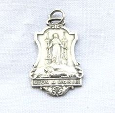French antique RARE 19th century Silver medal by 2shoppingdiva