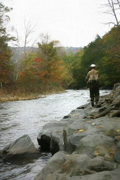 Fly Fishing In The Beaverkill-painting 0011 Photograph by Ericamaxine Price