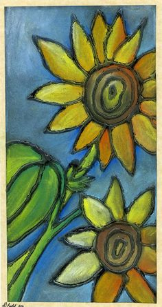 Bring some sunshine into your life with #chalkpastels! that artist woman: Chalk Pastel Sunflowers