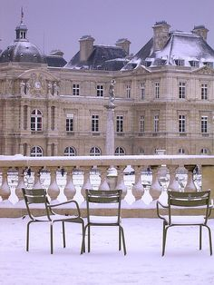 Jardins des Luxembourg - Paris in snow