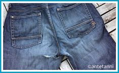 antetanni-repariert_Jeanshosen-stopfen-fix-it Denim Shorts, Fashion, Beautiful Things, Hiking, Moda, Fashion Styles, Fashion Illustrations, Jean Shorts