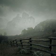 Dounarwyse, a 13th century ruin on the Isle of Mull, Scotland.