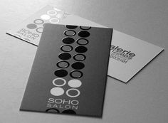 Soho Salon Business Cards by Taste of Ink Studios. This was printed on 15pt card stock in full color and silk/satin finish with spot gloss.
