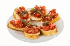 spanished bruschetta  dollhouse miniature food