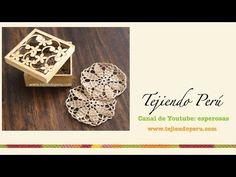 Posavasos redondos con diseño de flor tejidos a crochet - YouTube