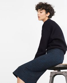 SHIMMER THREAD MID LENGTH SKIRT-View all-Woman-NEW IN | ZARA Canada