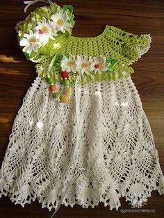 Платья крючком для девочек | Записи в рубрике Платья крючком для девочек | Дневник sveta0204 : LiveInternet - Российский Сервис Онлайн-Дневников Crochet Girls, Crochet Baby Clothes, Crochet For Kids, Cute Baby Dresses, Little Girl Dresses, Pretty Dresses, Irish Crochet, Crochet Shawl, Knit Crochet