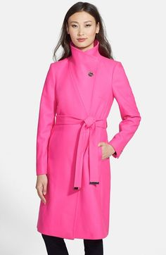 Ted Baker London 'Nevia' Stand Collar Belted Wrap Coat available at #Nordstrom via @divinecaroline