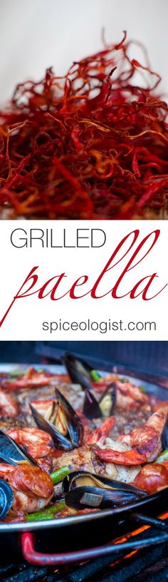 A delicious recipe for Grilled Paella done start to finish on the grill. The first day of Spring just happened and as some of the United States is still battl