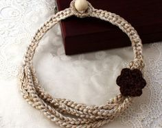 Collana cerchi Collana Crochet estate moda collana di stasiSpark