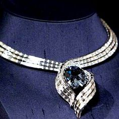 The Hope Diamond currently in its new setting.