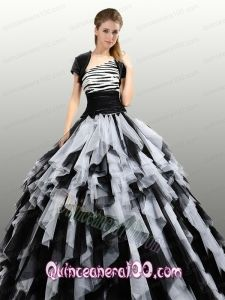 Fashionable White and Black Quinceanera Dresses with Ruffles For 2015 - Quinceanera 100