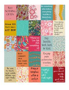 Wisdom Stickers for Life Planner Printable/Digital by ArtByMarnie