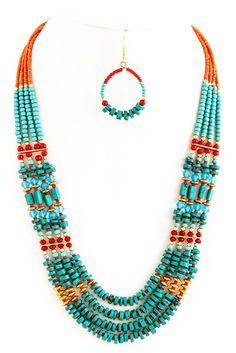 Bohemian fashion inspired - Tribal Style Necklace Set | TRAITS