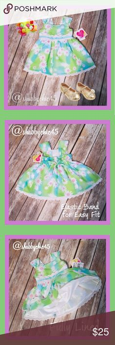 Fun Summer Dress Bundle -12 Months PRICE FIRM Two precious toddler dresses in sweet colors of chartreuse green, sunny yellow, vibrant pink and light turquoise teal. The little green dress is NWT and the pink dress is EUC! Both dresses are fully lined.  👜Smoke Free~Pet Friendly home. PRICE IS FIRM. NO OFFERS ACCEPTED. Koala Baby & Youngland Baby Dresses