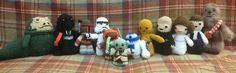 Lucy Collins Star Wars amigurami characters that were made to raise funds for the RAF Benevolent Fund Star Wars Crochet, Crochet Stars, Raise Funds, Star Wars Characters