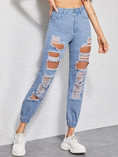 Cheap Skinny Jeans, Skinny Jeans Casual, Cute Ripped Jeans, Mom Jeans, Women's Jeans, Jeans Boyfriend, Jean Outfits, Casual Outfits, Cute Outfits