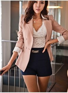 How to Wear a Hot Pink Blazer For Women looks & outfits) Look Fashion, Korean Fashion, Fashion Beauty, Womens Fashion, Fashion Trends, Fashion Ideas, Fashion Styles, Paris Fashion, Trendy Fashion
