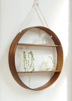 Bride & Wolf hanging circle shelf