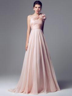 blumarine 2014 pink wedding dress one shoulder 6588 -- Blumarine Bridal 2014  Wedding Dresses 9dc59a780aa0
