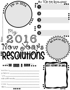 """Just a quick page I made for my students to start thinking about the New Year. I will use it as a """"brainstorming"""" session before using my  """"Ringing in the New Year"""" Craftivity (which can be found in my store too!)Any questions please don't hesitate to ask!Please leave feedback, it is greatly appreciated!"""