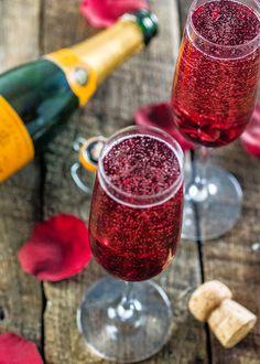 Hibiscus Champagne Wedding Cocktail | Brides.com