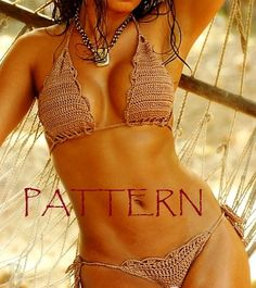 BRAZILIAN Bikini Crochet PATTERN. Crochet swimsuit by LittleNinni