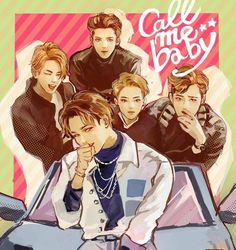 exo kai baek suho sehun fanart call me baby: WOW Whoever drew this fanart is so amazing!!!