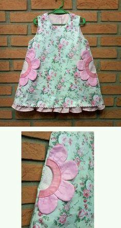 Sewing baby dress diy little girls 23 ideas for 2019 Kids Frocks, Frocks For Girls, Little Dresses, Little Girl Dresses, Girls Dresses, Baby Dresses, Dress Girl, Dress Red, Baby Dress Design