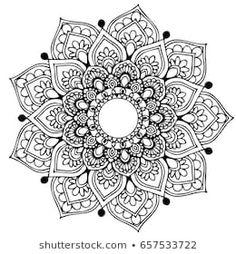 Mandalas for coloring book. Heart Coloring Pages, Coloring Books, Design Elements, Design Art, Mandala Sketch, Mandala Art Lesson, Unusual Flowers, Doodle Patterns, Anti Stress