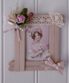 Casa de muñecas en miniatura de la Caja de 10 púrpura flor galletas helado
